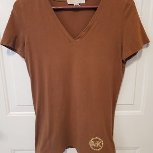 Michal Kors V Neck Top